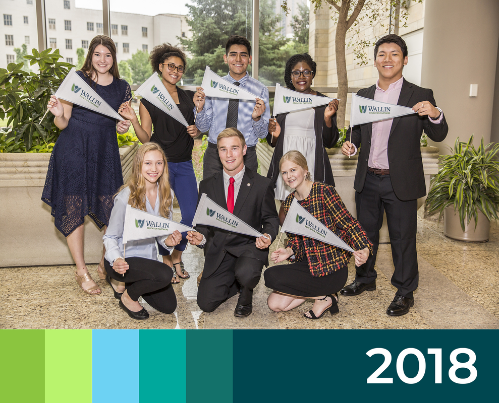2018 Cover for Annual Report with Large Group of Students